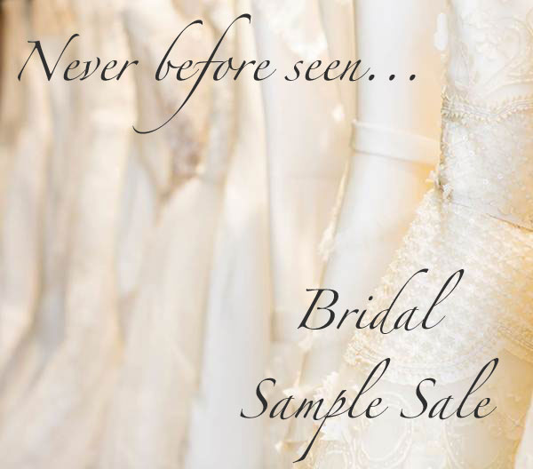 Never before seen bridal sample sale fashion blogger from.