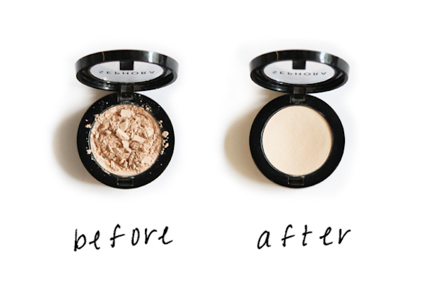 900e892bae1 We re in our bathroom and we drop our brand new powder (or eye shadow