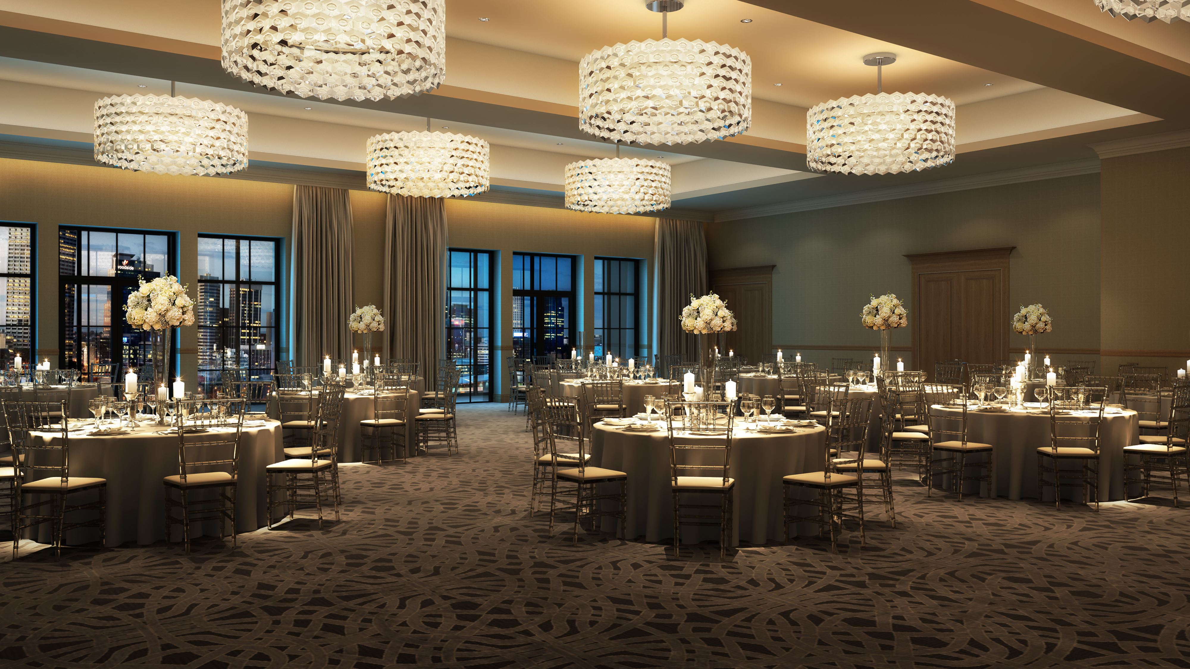 *Hotel ZaZa Memorial City Ballroom_Rendering Courtesy of MetroNational