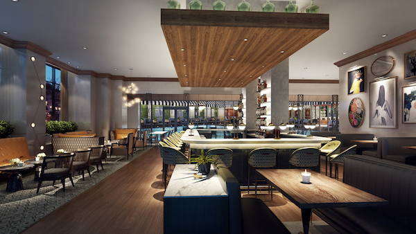 *Hotel ZaZa Memorial City Restaurant_Rendering Courtesy of MetroNational
