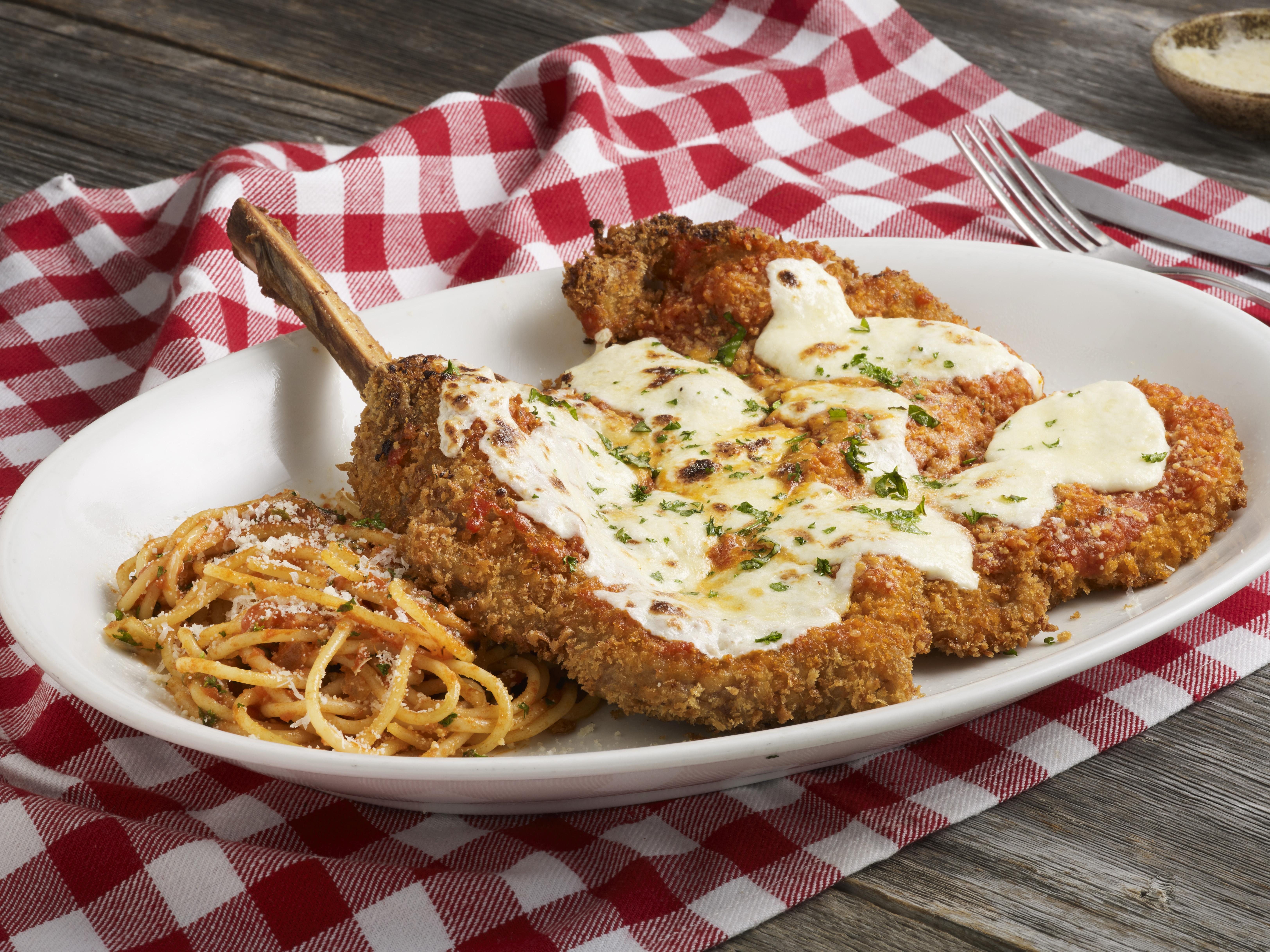 *Parmigiana | thinly pounded breaded veal chop, mozzarella, pomodoro, parmigiano
